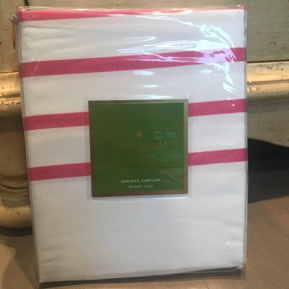 NEW Kate Spade Striped Shower Curtain